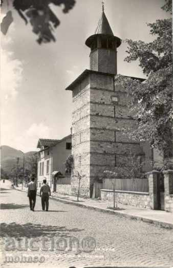 Old postcard - Berkovitsa, clock tower