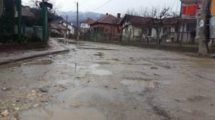 """началото на ремонтирания път към """"Заряница"""""""